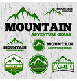 Premium mountain adventure logo vector image vector image