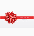 red bow ribbon realistic gifts for her vector image vector image