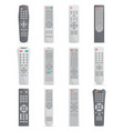 remote control set for tv or media center vector image