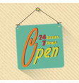 retro open sign vector image vector image