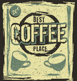 retro vintage coffee place poster vector image vector image
