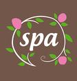 Round logo flowers for spa salon