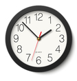 Round wall clock without divisions in black body vector image vector image