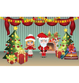 Santa and Mrs Claus in the House vector image vector image