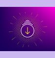 scroll down arrow line icon scrolling screen sign vector image vector image