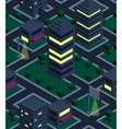 Seamless background night city Isometric vector image vector image