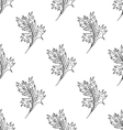 Seamless pattern with doodle fantazy leaf-3 vector image vector image