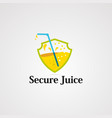secure juice logo icon element and template vector image vector image