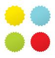 set four starburst sunburst badges four vector image vector image