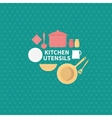 set kitchen utensils vector image vector image
