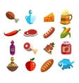 Set of Food Icons in Flat Design vector image vector image