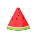 slice watermelon icon vector image vector image