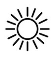 solar energy icon sun with outline style vector image