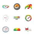 Speedometer for transport icons set cartoon style vector image vector image