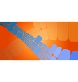 Square blue orange wave gradient geometrical vector image