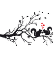 Squirrels on tree branch vector | Price: 1 Credit (USD $1)