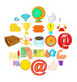 starting a business icons set cartoon style vector image vector image