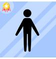 stickman icon vector image vector image