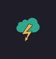 storm computer symbol vector image