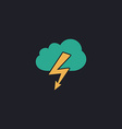 storm computer symbol vector image vector image