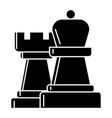 strategy - chess icon black vector image