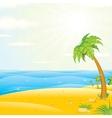 Sunny Tropical Island Beach vector image vector image