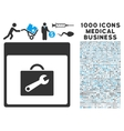 Toolbox Calendar Page Icon With 1000 Medical vector image vector image
