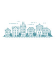 urban landscape old town retro buildings city vector image