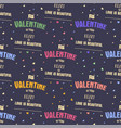 valenines day pattern it s valentine in your vector image vector image