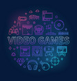 video games concept circular colorful vector image