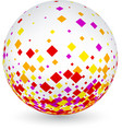 white ball with colorful rhombs vector image vector image