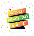 world peace day sale graphic element vector image vector image