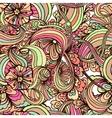 Bohemian style seamless tile vector image