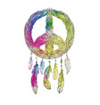 hand drawn boho of dream catcher with vector image