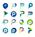 Icon design based on letter P vector image