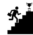 the human figure climbing the stairs to success vector image