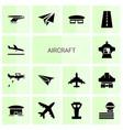 14 aircraft icons vector image vector image