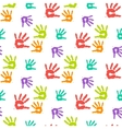 Abstract color hand prints seamless pattern vector image vector image