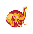 Angry African Elephant vector image vector image