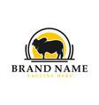 australian cow animal vintage logo vector image vector image