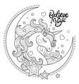believe in magic beautiful unicorn with moon