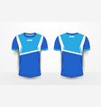 blue and white sport football kits jersey t-shirt vector image vector image