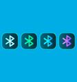 bluetooth wireless icons set vector image
