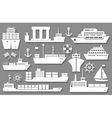 boat and ship icons vector image