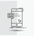 bulk dialog instant mail message line icon on vector image