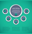 business infographic diagram concept vector image vector image