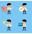 Businessman concepts set vector image vector image
