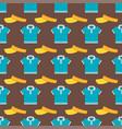 cartoon baseball hats seamless pattern sport vector image