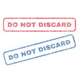 do not discard textile stamps vector image vector image