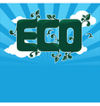 ecolgical banner vector image